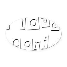 I Love Cori Oval Car Magnet