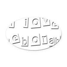 I Love Deborah Oval Car Magnet