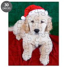 Golden Retriever Puppy Christmas Puzzle