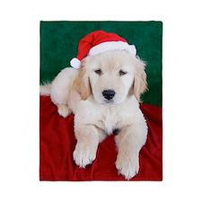 Golden Retriever Puppy Christmas Twin Duvet