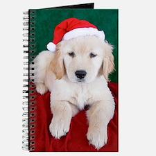 Golden Retriever Puppy Christmas Journal