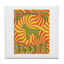 Groovy Ridgeback Tile Coaster