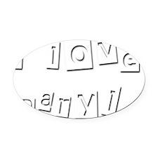 I Love Daryl Oval Car Magnet