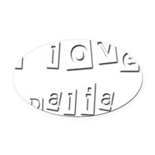 I Love Dalia Oval Car Magnet