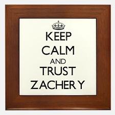 Keep Calm and TRUST Zachery Framed Tile