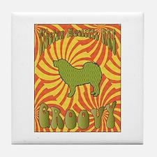 Groovy Mastiffs Tile Coaster