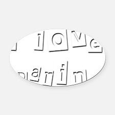 I Love Darin Oval Car Magnet