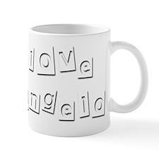 I Love Deangelo Small Mug