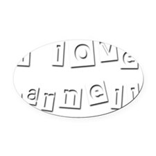 I Love Darnell Oval Car Magnet