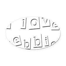 I Love Debbie Oval Car Magnet