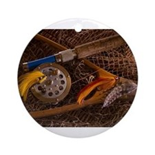 Fly fishing Ornament (Round)