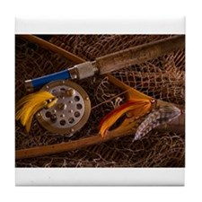 Fly fishing Tile Coaster