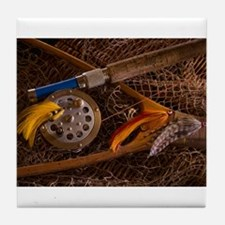 Fly fishing Tile Coaster