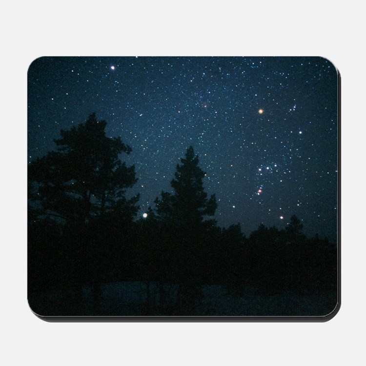 Starfield including Orion, Sirius Mousepad