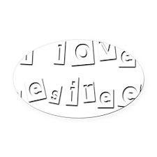 I Love Desiree Oval Car Magnet