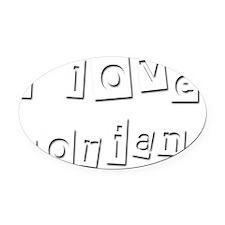 I Love Dorian Oval Car Magnet