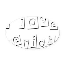 I Love Derick Oval Car Magnet