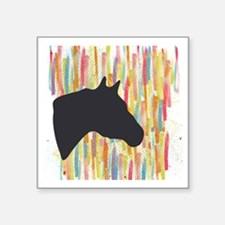 "Quarter Horse Square Sticker 3"" x 3"""
