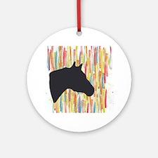 Quarter Horse Round Ornament