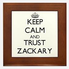 Keep Calm and TRUST Zackary Framed Tile