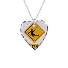 Physically-Challenge-Sled-Hoc Necklace Heart Charm