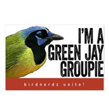 Green Jay Groupie Postcards (Package of 8)