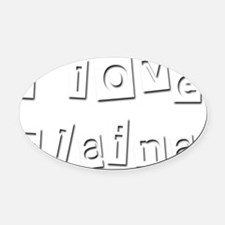 I Love Elaina Oval Car Magnet