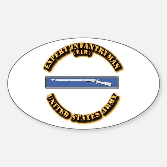 Army - EIB Sticker (Oval)