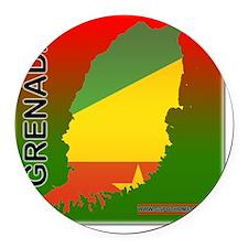 Grenada Round Car Magnet