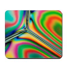 Stress patterns in plastic dish Mousepad