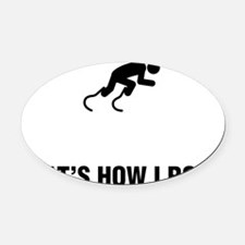Physically-Challenge-Runner-ABG1 Oval Car Magnet