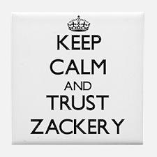 Keep Calm and TRUST Zackery Tile Coaster