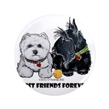 "Westie Scottie Best Friends 3.5"" Button"