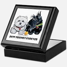 Westie Scottie Best Friends Keepsake Box