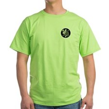 VK-UK Yin-Yang Kitties lime green T-shirt