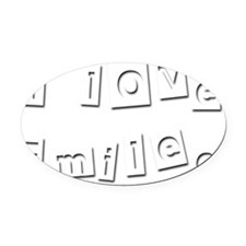 I Love Emilee Oval Car Magnet