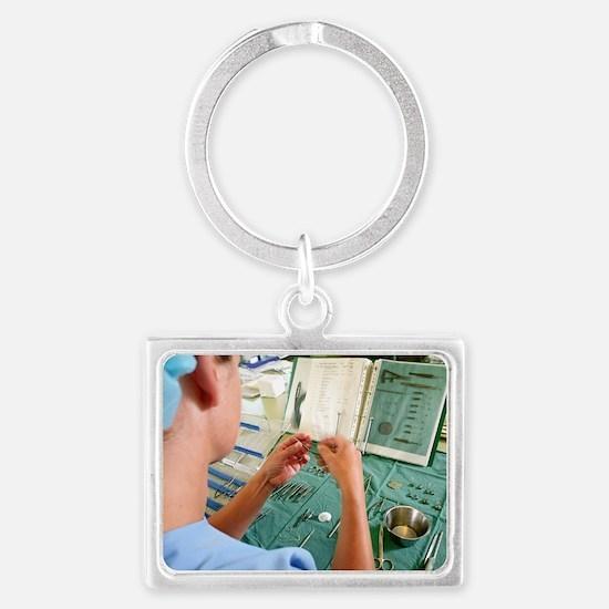 Surgical instruments Landscape Keychain