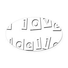 I Love Noelle Oval Car Magnet