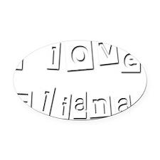 I Love Eliana Oval Car Magnet