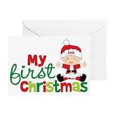 Baby Santa Babies First Christmas Greeting Card