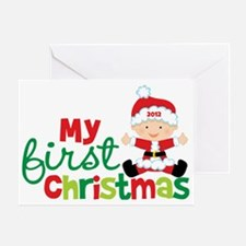 Baby Santa Babies First Christmas Greeting Card