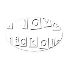 I Love Nickola Oval Car Magnet