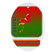 Carriacou Wear It Proud Oval Ornament