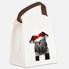 Christmas Horses In Love Canvas Lunch Bag
