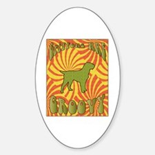 Groovy Griffons Oval Decal