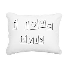 I Love Nyla Rectangular Canvas Pillow