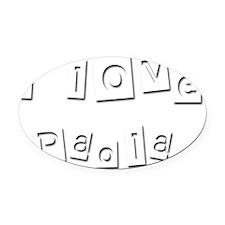 I Love Paola Oval Car Magnet