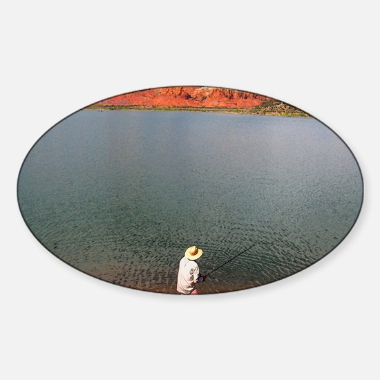 Abiquiu Angler Sticker (Oval)