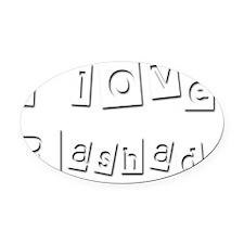 I Love Rashad Oval Car Magnet