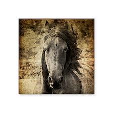 "Friesian Horse Square Sticker 3"" x 3"""